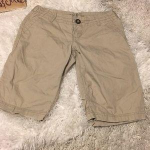 🍀6/$60 BKE Gavin Khaki beige longer shorts 27